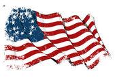 USA Betsy Ross flag Grunge — Stock Photo