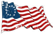 USA Betsy Ross flag Scratched — Stock Photo