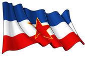 Flaga jugosławii — Zdjęcie stockowe