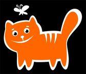 Szczęśliwy kot — Zdjęcie stockowe