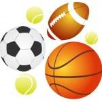 Balls set — Stock Photo