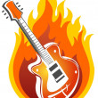 Guitar and fire - Foto Stock