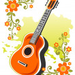 Guitar and flowers - Foto Stock