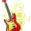 Stock Photo: Guitar with abstract pattern