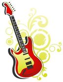 Guitar with abstract pattern — Stock Photo