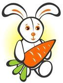 兔子与胡萝卜 — 图库照片