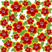 Red flowers background — Foto Stock
