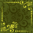 Green floral pattern — Stock Photo