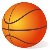 Palla basket — Foto Stock