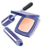 Compact powder and mascara — Stock Photo