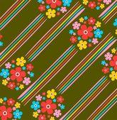 полосатый цветочный фон — Стоковое фото