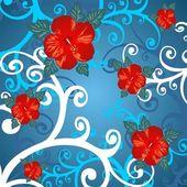 Curven en bloemen — Stockfoto