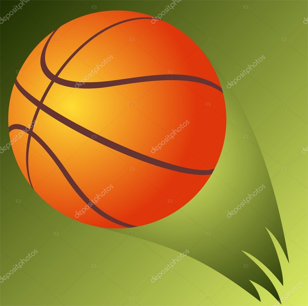 Basketball ball isolated on a green background. — Stock Photo #11677497