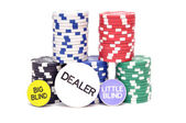 Chips to play poker — Stock Photo