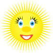 Stock Vector: Cheerful sun
