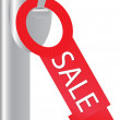 The red tag that says &amp;quot;SALE&amp;quot; - Stock Vector