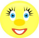 Cheerful smiley — Stock Vector