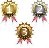 Prize medals — ストックベクタ
