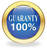"The button labeled ""100% Guarantee"" — Stockvector"