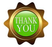 """The button """"THANK YOU"""" — Stock Vector"""