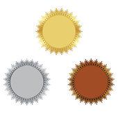 Set of prizes medals — ストックベクタ