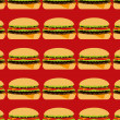 Seamless textures, hamburger — Stock Vector
