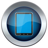 Web button with the image is the Tablet PC — Stock Vector
