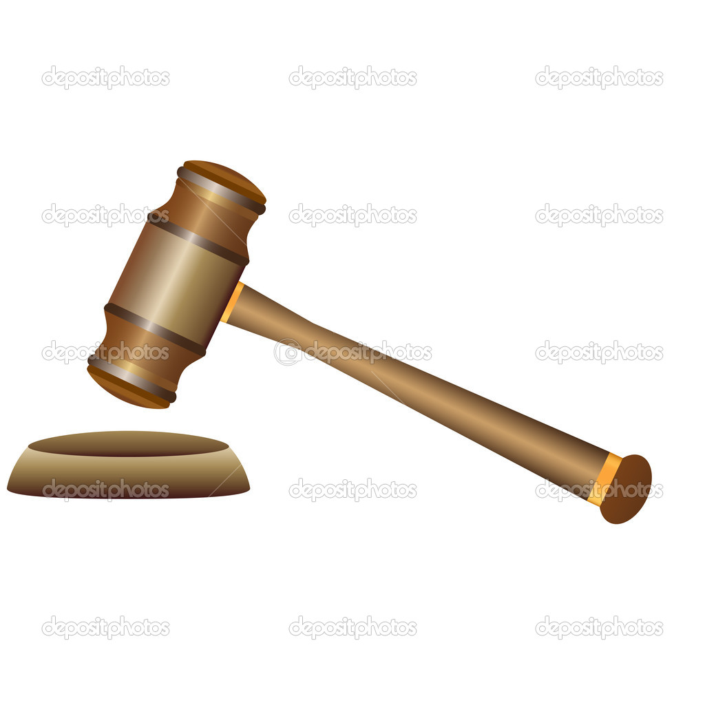 Gavel on white background — Stock Vector #11643693