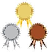 Prize a set of medals — ストックベクタ
