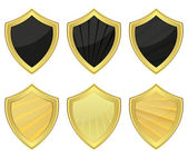 Set of shields — Stock Vector