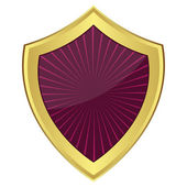 Purple shield — Stock Vector