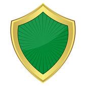 Green shield — Stock Vector