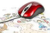 çocuk çizim — Stok fotoğraf