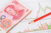 Chińska waluta — Zdjęcie stockowe