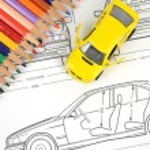 Car blueprint — Stock Photo #11946804