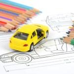 Car blueprint — Stock Photo #11946871
