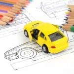 Car blueprint — Stock Photo #11946876