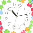 Puzzle and clock face — Stock Photo