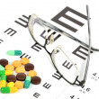 Medicine and eye chart — Stock Photo #12014204