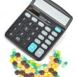 Royalty-Free Stock Photo: Medicine and calculator