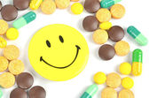 Medicine and smile face — Foto Stock