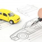 Car blueprint — Stock Photo