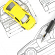Car blueprint — Stock Photo #12053798