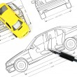 Car blueprint — Stock Photo #12053819