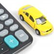 Toy car and calculator — Stock Photo #12070601