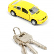 Toy car and key — Stock Photo