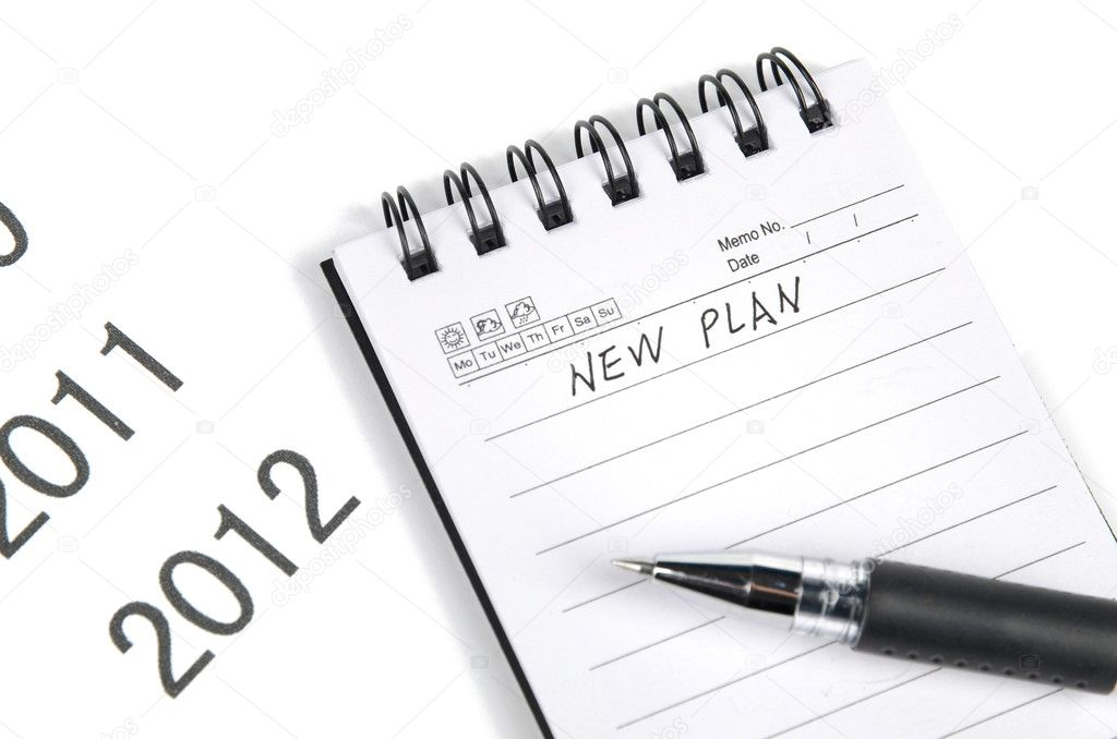Notepad and pen on time line — Stock Photo #12074311
