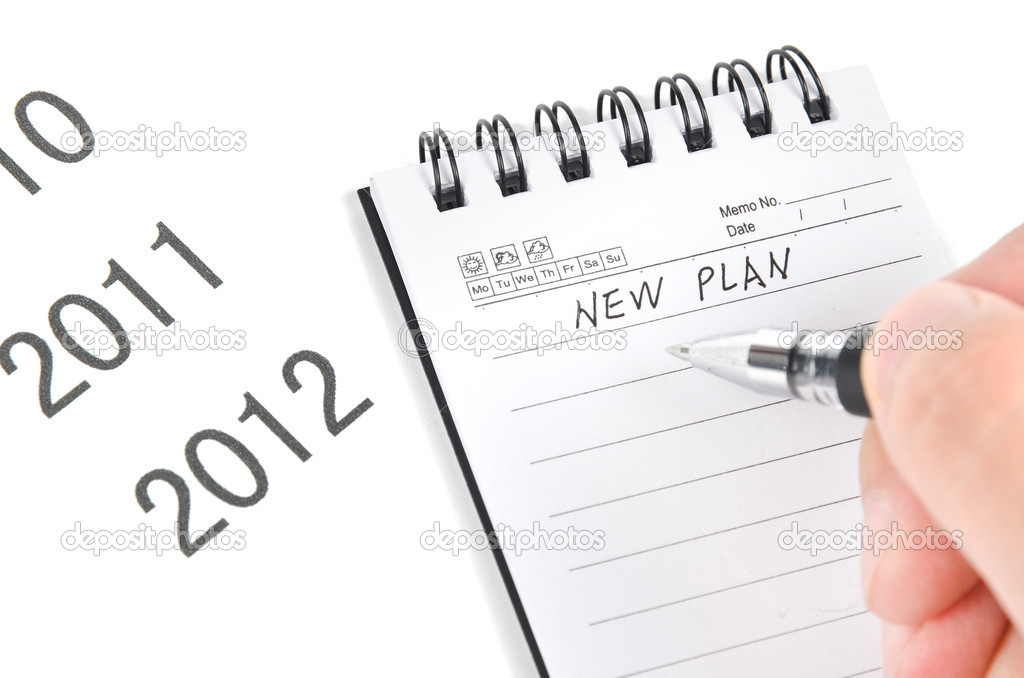Notepad and pen on time line — Stock Photo #12074313