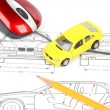 Stockfoto: Car blueprint