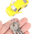 Toy car and keys — Stock Photo